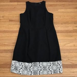 Ann Taylor cotton with wide crochet lace hem band